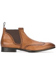 Santoni Stitch Detail Ankle Boots Nude And Neutrals