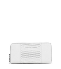 Michael Kors Jet Set Micro Stud Saffiano Leather Wallet Optic White
