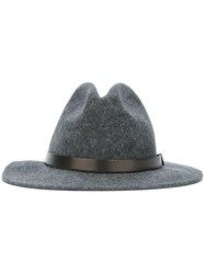 Dsquared2 Buckled Strap Detail Fedora Grey