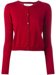 Red Valentino Cropped Cardigan Red