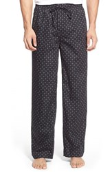 Men's Big And Tall Nordstrom Woven Plaid Lounge Pants Black Paisley