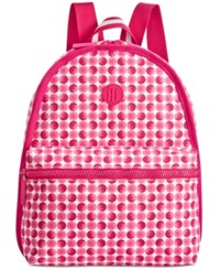 Tommy Hilfiger Polka Dot Basic Canvas Backpack Fuschia Tonal
