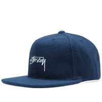 Stussy Smooth Stock Melton Snapback Cap Blue