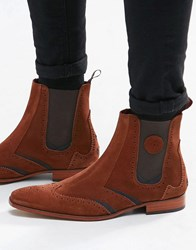 Jeffery West Suede Chelsea Boots Brown