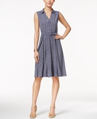 Charter Club Petite Sleeveless Boat Print Shirtdress Only At Macy's Intrpd Blue Cmb