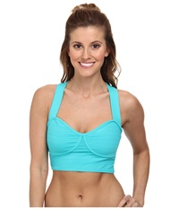 Beyond Yoga Baby Doll Bralet Seaglass Stripe Women's Bra Blue