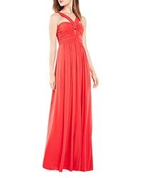 Bcbgmaxazria Ruched Gown Red Berry