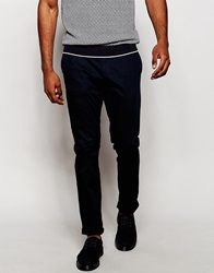 Reiss Chinos In Slim Fit Navy