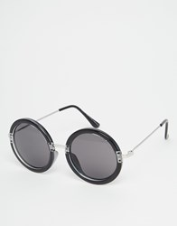 Cheap Monday Fuller Round Sunglasses Clearblack