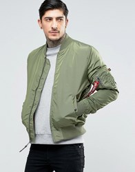 Alpha Industries Ma 1 Bomber Jacket Slim Fit In Sage Green Gr1 Green 1