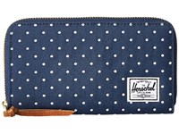 Herschel Thomas With Zipper Navy White Embroidery Polka Dot Wallet Handbags Blue