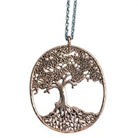 House Of Alaia Large Tree Of Life Filigree Necklace Silver