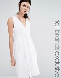 Y.A.S Tall Sleeveless Skater Dress White