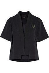Lucas Hugh Mesh Trimmed Jersey Jacket Black