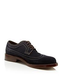 Johnston And Murphy Pearson Wingtip Oxfords Navy