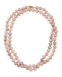 Belpearl Pink Freshwater Long Pearl Necklace