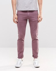Asos Skinny Jeans In Purple Purple