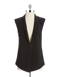 Dkny Collared Vest Black