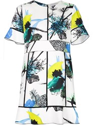 Proenza Schouler Floral Patchwork Dress White
