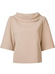 Trina Turk Flared Sleeves Blouse Nude And Neutrals