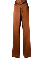 Ann Demeulemeester Belted Palazzo Pants Yellow Orange