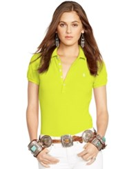 Polo Ralph Lauren Skinny Stretch Polo Shirt Neon Yellow