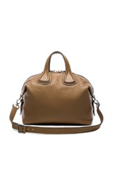 Givenchy Medium Waxy Leather Nightingale In Brown
