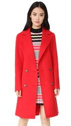 Tibi Reversible Double Face Coat Redstone