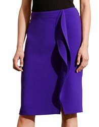 Lauren Ralph Lauren Ruffled Pencil Skirt Purple