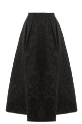 Elie Saab Brocade Maxi Skirt Black