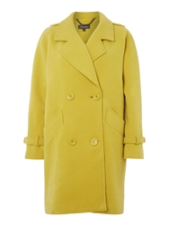 Pied A Terre Double Breasted Boyfriend Coat Chartreuse