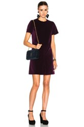 Carven Short Sleeve Mini Dress In Purple