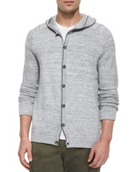 Vince Hooded Button Down Cardigan Gray