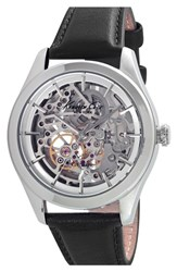 Women's Kenneth Cole New York Automatic Leather Strap Watch 40Mm