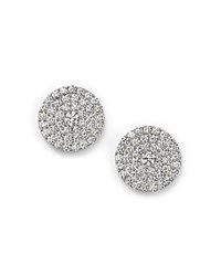 Bloomingdale's Diamond Cluster Circle Stud Earrings In 14K White Gold 1.0 Ct. T.W.