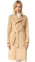 Theory Oaklane Double Faced Wool Coat Palomino