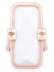 Altruis By Vinaya Designer Wearable Technology Rose Gold Ring Silver Rose Gold White Stone