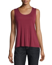 Eileen Fisher Silk Jersey Tank Top Passion Flower Petite