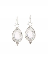 Jude Frances 18K White Gold Topaz And Diamond Earring Charms