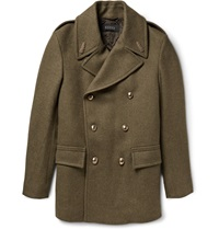 Gucci Double Breasted Wool Peacoat Green