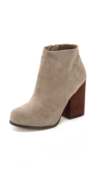 Jeffrey Campbell Hanger Suede Raw Booties Taupe