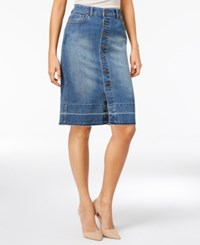 Styleandco. Style Co. Petite Button Front Denim Skirt Only At Macy's Classon