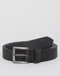 New Look Skinny Leather Belt In Black Black