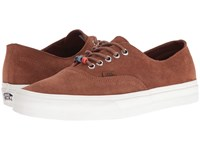 Vans Authentic Decon Suede Monk's Robe Blanc De Blanc Skate Shoes Brown