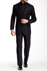 Brooks Brothers Navy Solid Two Button Notch Lapel Suit Blue