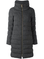 Herno Textured Padded Coat Grey