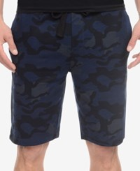 2Xist 2 X Ist Men's Loungewear Terry Shorts Blue Camo