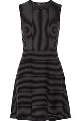 Theory Randria. Evian Striped Wool Blend Dress Blue