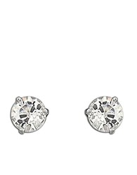 Swarovski Solitaire Crystal Stud Earrings Silver