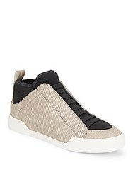 3.1 Phillip Lim Morgan Leather Slip On High Top Sneakers Black